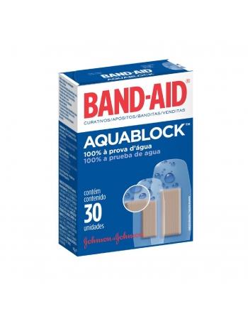 CURATIVO BAND AID JOHNSON & JOHNSON AQUABLOCK 30UN