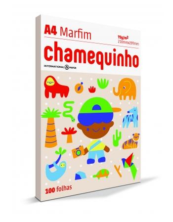 PAPEL CHAMEQUINHO A4 MARFIM 25X100