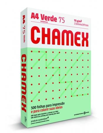 PAPEL CHAMEQUINHO A4 VERDE 25PCT COM 100 FOLHAS