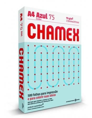 PAPEL CHAMEX COLORS A4 AZUL 10 CAIXA 500 FLS